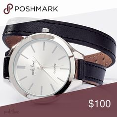 TIRAMISU WATCH TIRAMISU WATCH  The gleaming gold bezel and hour detailing offer rich contrast to TIRAMISU's cream-colored watch face. simulated leather strap wraps around your wrist twice. Comes in black and silver or brown and gold. Park Lane Jewelry Bracelets