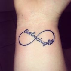 Tattoo, Live Love Laugh Infinity