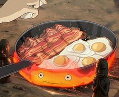 """Howls Moving Castle, """"May all your bacon burn!"""" Lol I started saying this to my cousins when they be mean to me ^_^"""