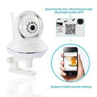 Wish | DBPOWER® RT8808 HD 720P IR-CUT Pan/Tilte Wireless Wired IP Camera Surveillance IP Camera with Night Vision
