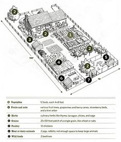 farm design Southern Living is part of - Last fall April and I wanted to start getting our hands dirty, mud caked fingernails, sweaty foreheads, outdoor punishment We have always Homestead Layout, Homestead Farm, Off Grid, Farm Layout, Farm Plans, Mini Farm, Backyard Farming, Hobby Farms, Small Farm