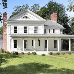 New 1850's Greek Revival Farmhouse - traditional - exterior - new york - Scott Design, Inc.