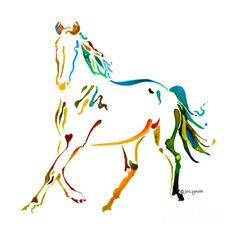 Horse of Many Colors - 2 Painting