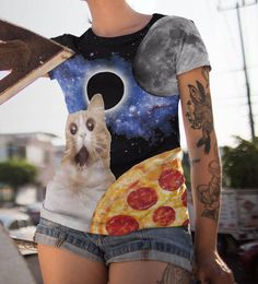 Space Kitty Pizza Unisex Music Festival Clothing Funny shirt Rave wear Psychedelic Music festival clothing Women shirt Men shirt festival by signoftimesworld on Etsy #musicfestival #etsyfind #cat #musical #pizza #Space #meme #Funny