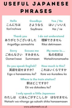 Japanese for Tourists - Simple Japanese phrases you will need to know!