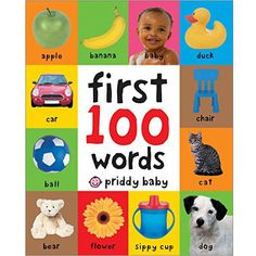 Your little one will soon learn some essential first words and pictures with this bright board book. There are 100 color photographs to look at and talk about, and 100 simple first words to read and learn, too. The pages are made from tough board for hours of fun reading, and the cover is softly …