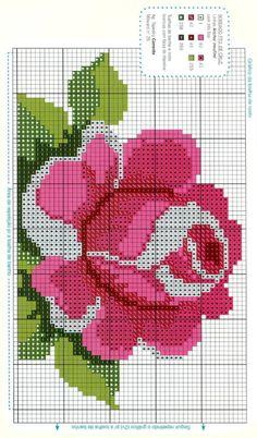 pattern / chart for cross stitch, knitting, knotting, beadi Cross Stitching, Cross Stitch Embroidery, Embroidery Patterns, Hand Embroidery, Cross Stitch Heart, Cross Stitch Flowers, Cross Stitch Designs, Cross Stitch Patterns, Seed Bead Flowers
