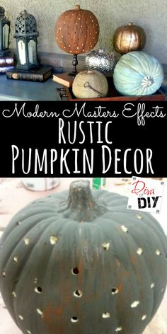 A rustic pumpkin is the perfect addition to your rustic fall decor! Two…