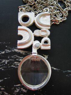 "Jorma Laine ""Ice"" pendant with rock crystal, 1972 Vintage Jewellery, Contemporary Jewellery, Scandinavian Style, Jewerly, Silver Jewelry, Jewelry Design, Wedding Rings, Bronze, Pendants"