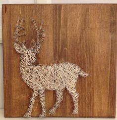 Deer String Art by JilliansGifts on Etsy https://www.etsy.com/listing/216799010/deer-string-art