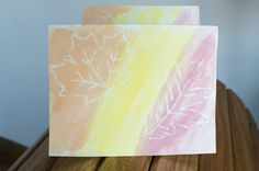 Easy Fall Leaf Watercolor Cards   Running Blonde