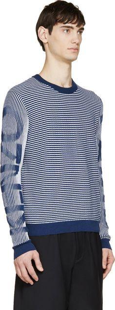Kenzo Navy Striped Logo Sweater