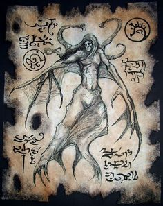 Cthulhu LARP Pnakotic Sorcery Necronomicon Haunted Occult Dark Art Magick Witch | eBay Dark Fantasy, Fantasy Art, Necronomicon Lovecraft, Lovecraftian Horror, Book Of The Dead, Templer, Arte Obscura, Call Of Cthulhu, Occult Art
