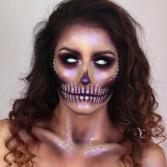 """4,794 Likes, 59 Comments - •Giulianna Maria• (@giuliannaa) on Instagram: """"✨Glam Skull✨ LINK IN BIO FOR TUTORIAL! What other Halloween looks or themed skulls do you wanna…"""""""