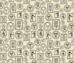 Animal Frames fabric by Andrea Lauren #pattern #surface design #andrealauren