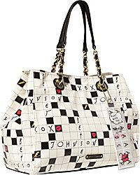 Handbags - Shop Women's Purses & Designer Handbags from Betsey Johnson -  KITCHI CROSSWORD TOTE