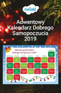 Okres przed-świąteczny jest zazwyczaj czasem stresującym i zabieganym, warto więc pamiętać o dobrym samopoczuciu nauczycieli. Ten kalendarz adwentowy został stworzony specjalnie dla Was, i każdego dnia podaje pomysł na to, jak zadbać o siebie i zrelaksować się w czasie adwentu. Idealny do powieszenia w klasie lub pokoju nauczycielskim! #święta #swieta #bozenarodzenie #bożenarodzenie #boże #boze #adwent #kalendarz #szkola #nauczycieli #twinkl #wellbeing #samopoczucie Create Yourself, Geography