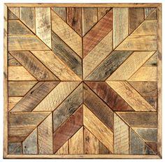Wood Star Wall Art - rustic - Artwork - Grindstone Design