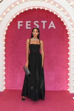 VENICE, ITALY - JUNE 30:  Laura Harrier attends Bvlgari Party at Scuola Grande della Misericordia on June 30, 2017 in Venice, Italy.  (Photo by Venturelli/Getty Images for Bvlgari ) via @AOL_Lifestyle Read more: https://www.aol.com/article/entertainment/2017/07/01/bella-hadid-risks-wardrobe-malfunction-in-sexy-dress-for-bulgari/23011895/?a_dgi=aolshare_pinterest#fullscreen