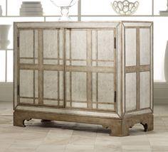 Amazon.com - Hooker Furniture Melange Mirrored Plaid Chest in Mirrored Finish - Storage Chests