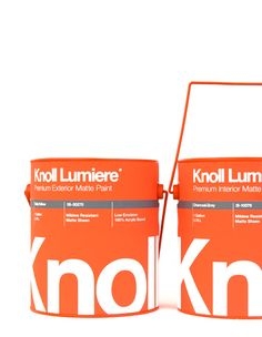 Recent graduate Kristín Agnarsdóttir designed this Knoll Architectural Paint packaging for a design class at the Academy of Art University in San Francisco, California.