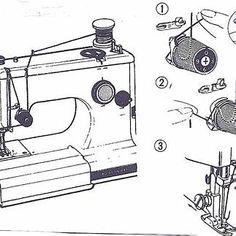Green Singer 185J Sewing Machine