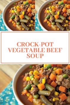 Find easy-to-make comfort food recipes like Healty recipes, dinner recipes and more recipes to make your fantastic food today. Crock Pot Vegetables, Frozen Vegetables, Beef Soup Recipes, Dinner Recipes, Fresh Potato, Tasty Dishes, Healthy Drinks, Easy Meals, Food And Drink