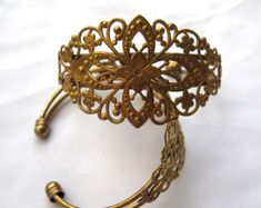 1 pc Bracelet DIY Brass Filigree Fine Findings Cuff Bracelet Vintage Style bf157