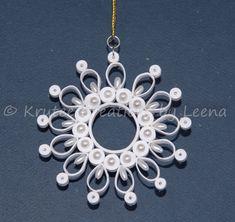 Beautiful Paper Quilled Snowflake by leenanashikkar on Etsy, $10.00