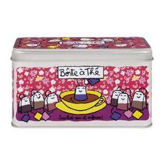 Mais pourquoi je ne bois plus de thé ? La boite à thé sachet qu'il infuse (10,50 €) est très belle !