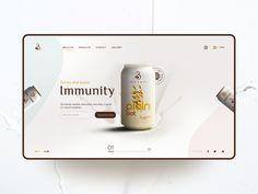 Bevry Oat Milk Ecommerce | UI Design Concept by Rakesh Mallick Ui Design, Design Trends, Adobe Xd, Landing Page Design, Web Design Inspiration, Show And Tell, Ecommerce, Milk, Branding