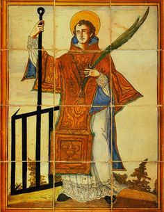 Saint Lawrence, patron saint of the downtrodden and impoverished, is among the most famous martyrs in Italian history. Catholic Art, Catholic Saints, Patron Saints, Happy Feast Day, Daily Scripture, St Lawrence, Art Thou, Catechism, Religious Icons