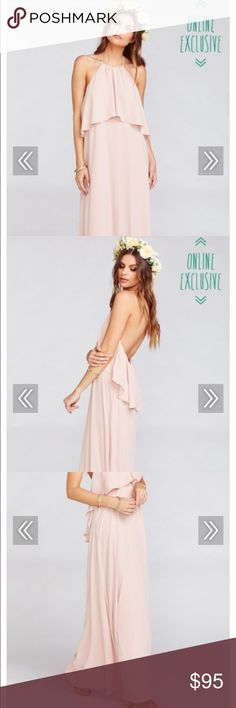 Show Me Your Mumu Bridesmaid Dress Bohemian Maxi. Fits height for 5'10 - had it hemmed for wedding. Worn once. Can be worn as bridesmaid or to a wedding! Show Me Your MuMu Dresses Maxi