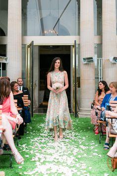Wedding Dress: Bridal Garden - http://www.stylemepretty.com/portfolio/bridal-garden Wedding Dress: Junko Yoshioka - http://www.junkoyoshioka.com Photography: French Grey Photography - frenchgreyphotography.com   Read More on SMP: http://www.stylemepretty.com/destination-weddings/2017/02/20/paris-4th-of-july-wedding/