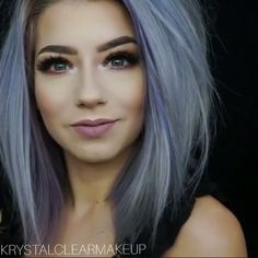 100 dark hair with heavy platinum highlights perfect when you're going grey pa… - Beatiful Hairstyle Hair Color And Cut, Ombre Hair Color, Cool Hair Color, Purple Hair, Blue Grey Hair, Hair Colors, Platinum Highlights, Hair Highlights, Pelo Color Ceniza