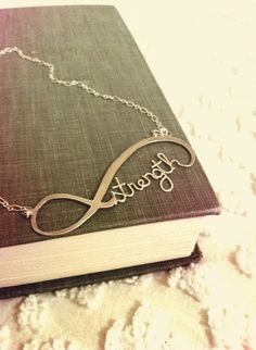 (2) rosahatescake's save of Infinity Necklace - Strength - Sterling Silver on Wanelo