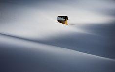 In snowdrift