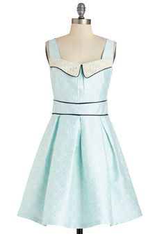 Pleasure to Partake Dress. A tea party at your besties? #blue #modcloth