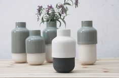 Ceramic vase with modern look in white and black. Flower Vase,Ceramic Flower Pot,Modern Ceramic Vase,wedding gift, housewarming gift idea. by ONEandMANY on Etsy https://www.etsy.com/listing/400351875/ceramic-vase-with-modern-look-in-white