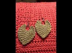 Tunisian Crochet earring directions tutorial - YouTube