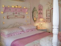 PHOTO: Kim Wood, 46, would make Barbie proud. Shes decorated her entire house pink, including her bedroom.