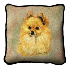 Pomeranian Dog Portrait Pillow
