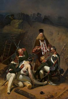Blessing of soldiers by Horace Vernet, first quarter of the 19th century (PD-art/old), Muzeum Narodowe w Warszawie (MNW)