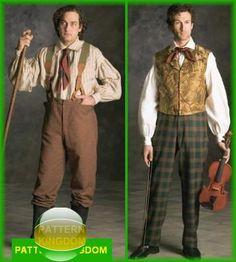 Simplicity 5035 Mens Victorian Civil War Era Shirt Pants Patterns