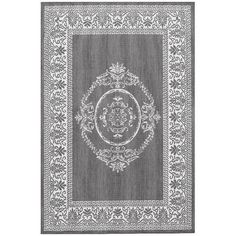 Found it at Wayfair - Recife Antique Medallion Grey & White Indoor/Outdoor Area Rug http://www.wayfair.com/daily-sales/p/Rugs-in-Every-Shape-%26-Size-Recife-Antique-Medallion-Grey-%26-White-Indoor%2FOutdoor-Area-Rug~CU5225~E21546.html?refid=SBP.rBAZEVW5pe6zanexLLzbAkQSzu-WSUfWpN29Fgxk1yg