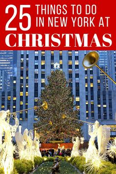 Festive things to do in New York City at Christmas Time. If you travel to New York in December, here is a holiday guide for everything Christmas in NYC. It's the most wonderful time of the year in this city, so plan a trip to enjoy all the season has to Shopping In New York, New York Vacation, New York City Travel, Trips To New York, New York City Trip, Visit New York City, New York City Christmas, Christmas Travel, Christmas Vacation