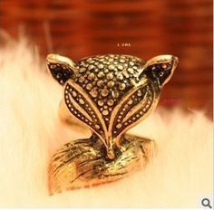 Enchanting cute little fox ring jewelry wholesale ,Supply all kinds of cheap fashion jewelry ,shop at www.costwe.com