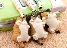 Strapya World : Pet Lovers Hand-Made Cat Beads Cell Phone Strap Mix