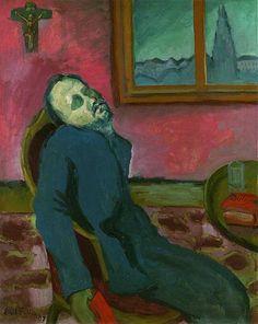 Czech painter Emil Filla - Čtenář Dostojevského (1907), Národní galerie Praha Emil Filla - Reader of Dostoevsky (1907), National Gallery