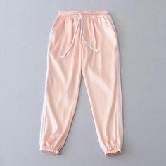 Pure Color Regular Waist Casual Yoga Long Harem Pants